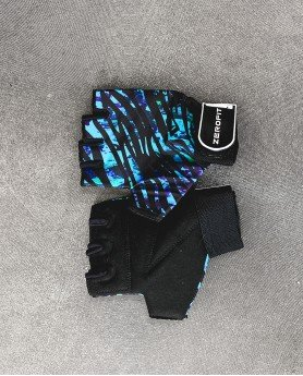 Blue safari gloves